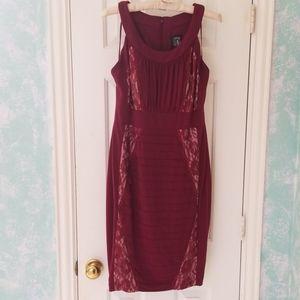 Jax Burgandy Dress